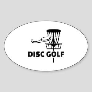 Disc golf Sticker (Oval)
