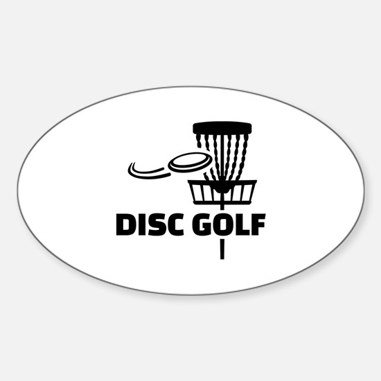 Disc golf Sticker (Oval)