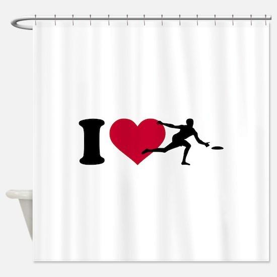 I love Disc golf Shower Curtain