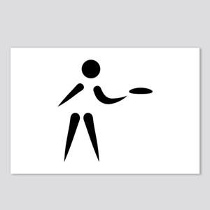 Disc golf player Postcards (Package of 8)