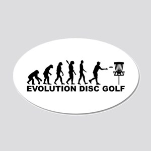 Evolution Disc golf 20x12 Oval Wall Decal