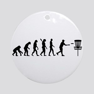 Evolution Disc golf Round Ornament