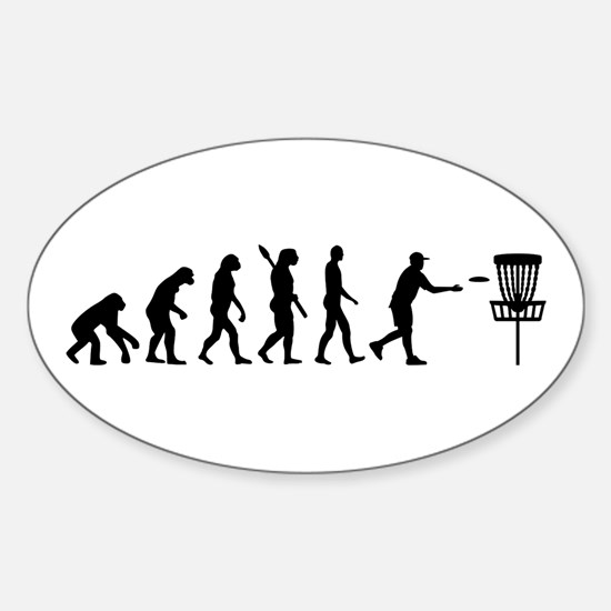 Evolution Disc golf Sticker (Oval)