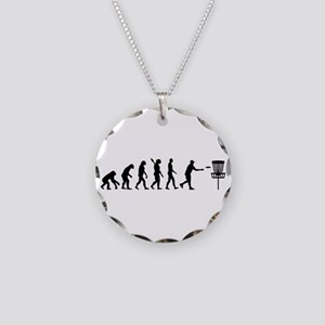 Evolution Disc golf Necklace Circle Charm