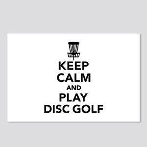 Keep calm and play Disc g Postcards (Package of 8)