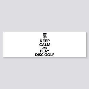Keep calm and play Disc golf Sticker (Bumper)