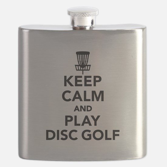 Keep calm and play Disc golf Flask