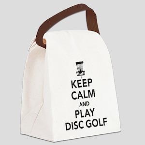 Keep calm and play Disc golf Canvas Lunch Bag