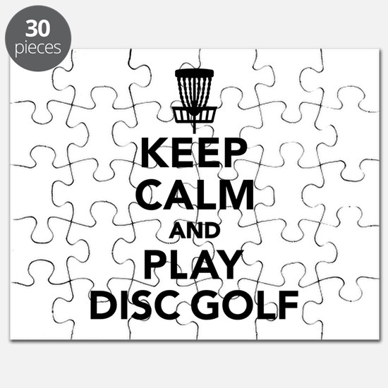Keep calm and play Disc golf Puzzle