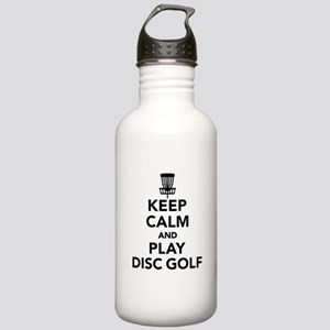 Keep calm and play Dis Stainless Water Bottle 1.0L