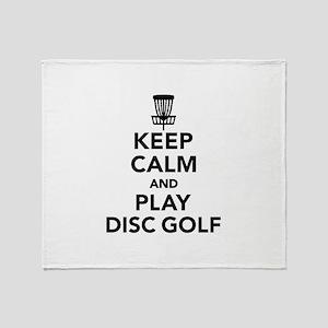 Keep calm and play Disc golf Throw Blanket