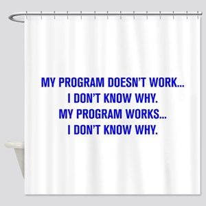 MY PROGRAM DOESN'T WORK I DON'T KNOW WHY Shower Cu