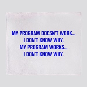 MY PROGRAM DOESN'T WORK I DON'T KNOW WHY Throw Bla