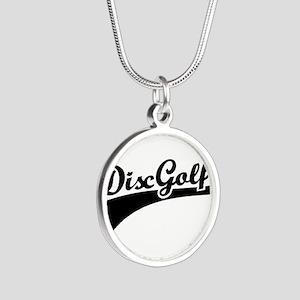 Disc golf Silver Round Necklace