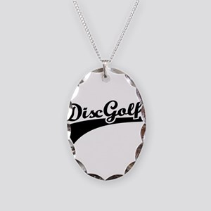 Disc golf Necklace Oval Charm