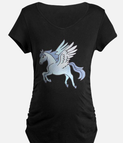 Pegasus Blue Maternity T-Shirt