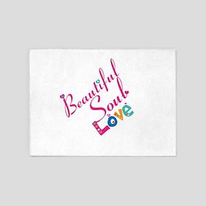 Beautiful Soul Love 5'x7'Area Rug