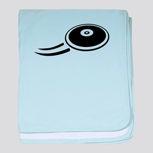 Discus throw baby blanket