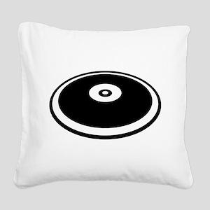 Discus throw Square Canvas Pillow