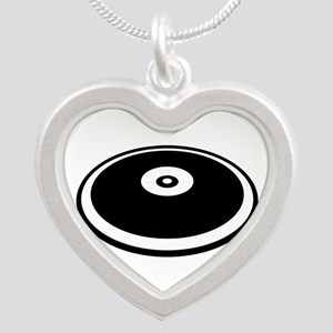 Discus throw Silver Heart Necklace