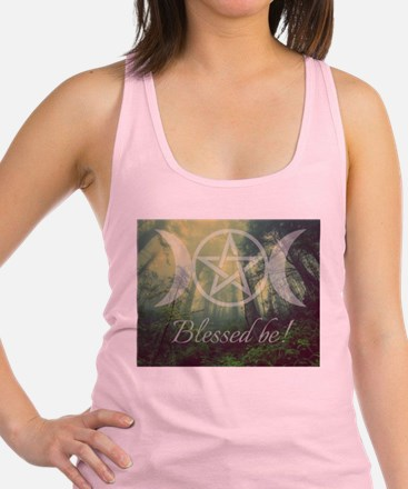 Pentacle Forest Blessed Be Racerback Tank Top