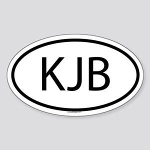 KJB Oval Sticker