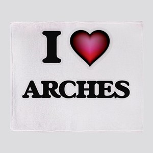 I Love Arches Throw Blanket