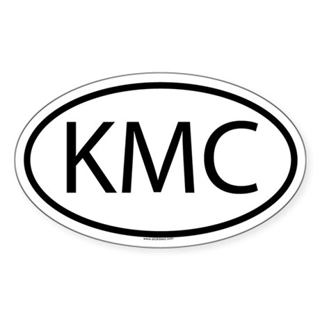 KMC Oval Sticker