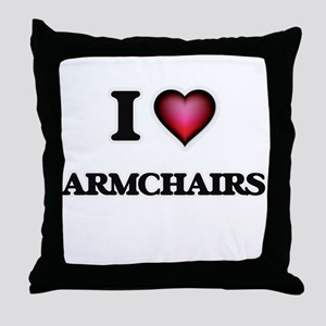 I Love Armchairs Throw Pillow