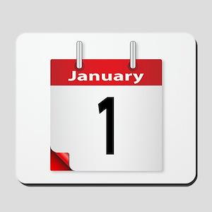 Date January 1st Mousepad