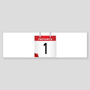 Date January 1st Bumper Sticker