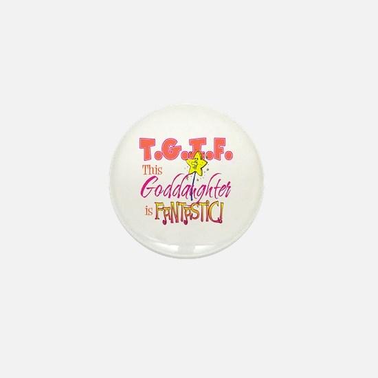 Fantastic Goddaughter Mini Button