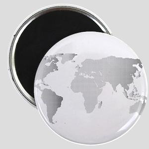 Halftone World Outline Magnets