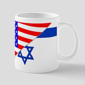 USA and Jewish Flags Mugs