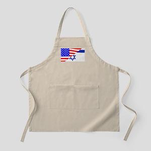 USA and Jewish Flags Apron