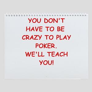 Poker Player Wall Calendar