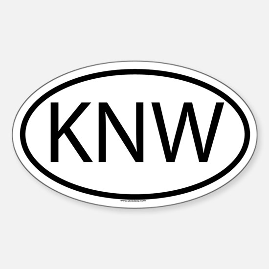 KNW Oval Decal