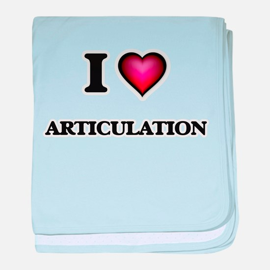 I Love Articulation baby blanket