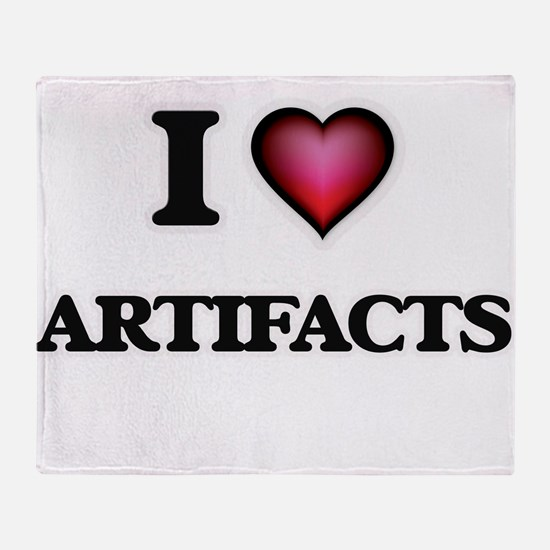 I Love Artifacts Throw Blanket