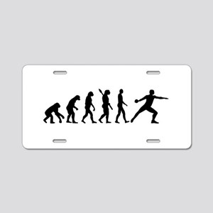 Evolution Discus throw Aluminum License Plate