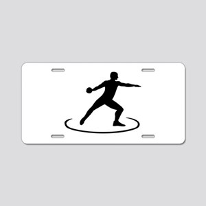 Discus throw Aluminum License Plate