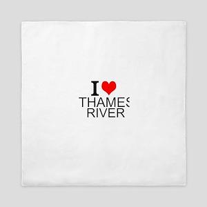 I Love Thames River Queen Duvet