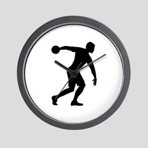 Discus throw Wall Clock