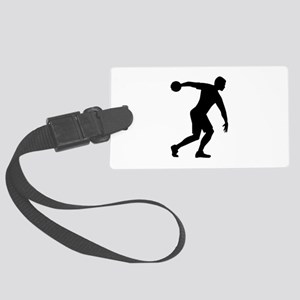 Discus throw Large Luggage Tag