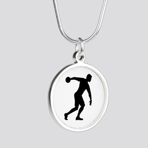 Discus throw Silver Round Necklace