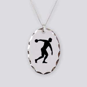 Discus throw Necklace Oval Charm