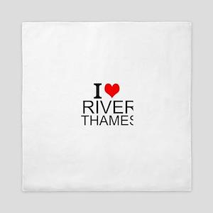 I Love River Thames Queen Duvet