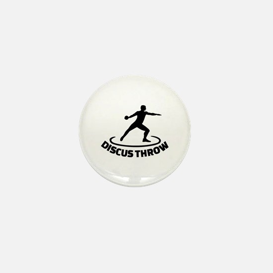Discus throw Mini Button