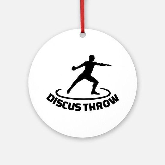 Discus throw Round Ornament