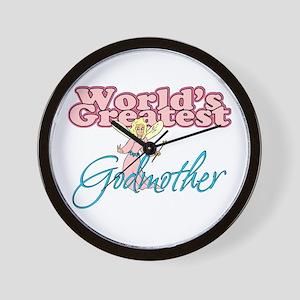 World's Greatest Godmother Wall Clock